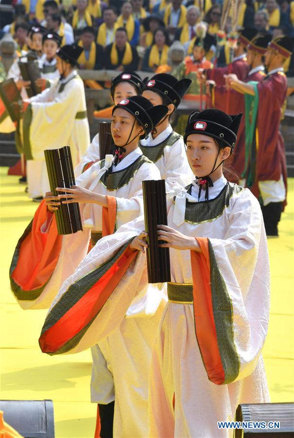 Birth anniv. of Confucius marked in Qufu, E China's Shandong