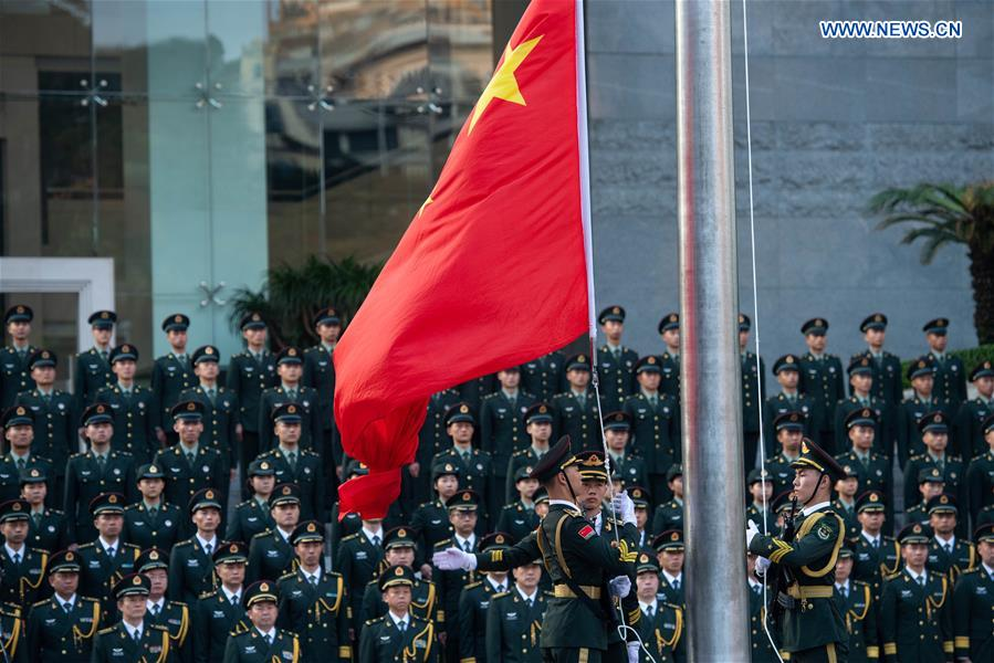 CHINA-MACAO-NATIONAL DAY-PLA-FLAG RAISING CEREMONY (CN)
