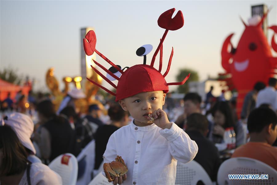 Crab feast held in Huai'an, east China's Jiangsu