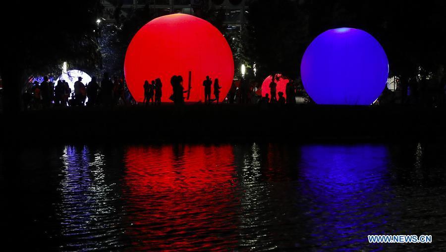 "Highlights of ""moonGARDEN"" exhibition in Houston, U.S."