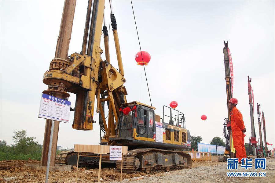 #(经济)江苏南沿江城际铁路开工建设