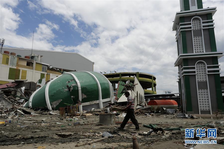 (国际)(2)印尼强震及海啸死亡人数升至1948人