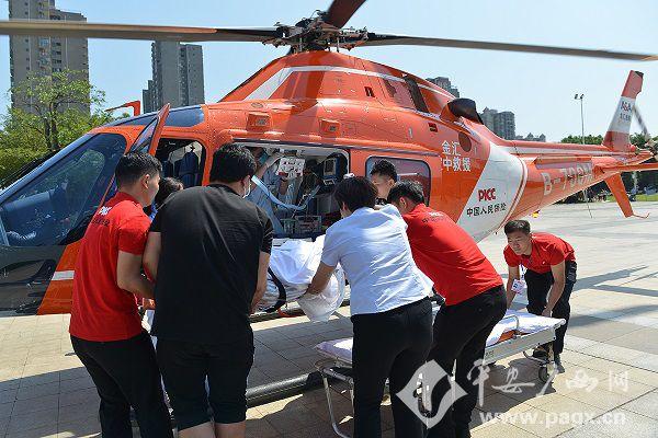 患者病危直升机救援争分夺秒