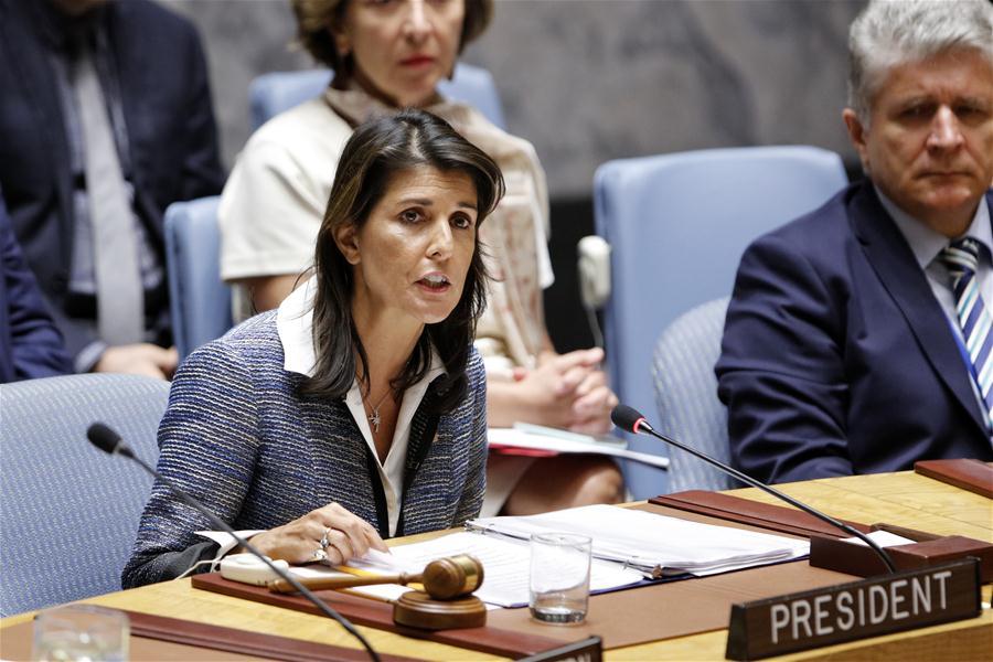 UN-U.S.-NIKKI HALEY-RESIGN