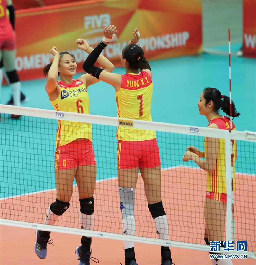 (体育)(7)排球――女排世锦赛:中国胜美国
