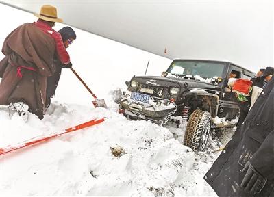 大雪襲擊納木錯 滯留游客已經全部撤離