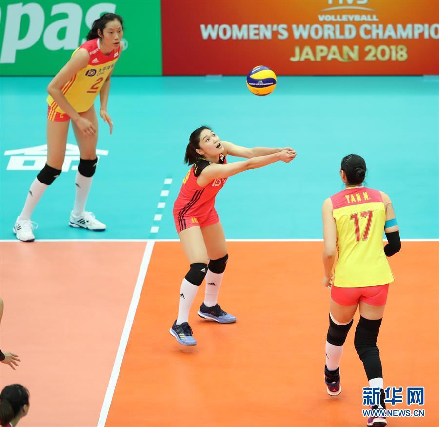 (体育)(6)排球――女排世锦赛:中国胜美国