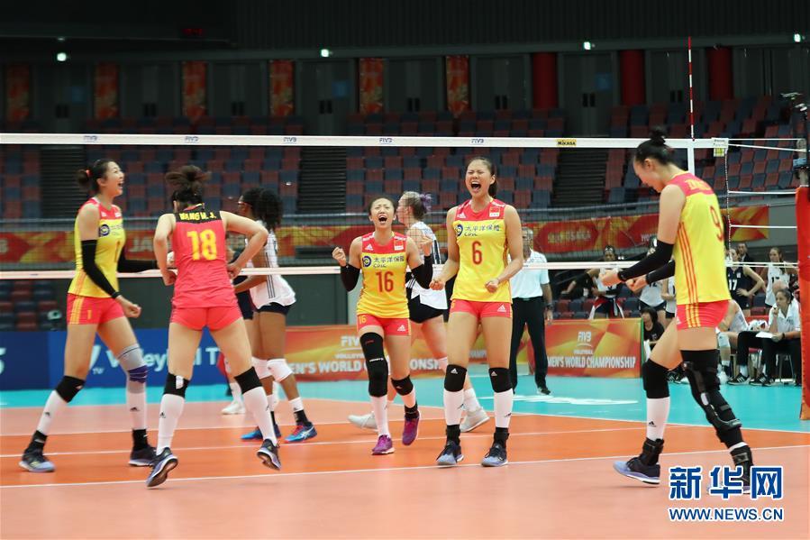 (体育)(9)排球――女排世锦赛:中国胜美国
