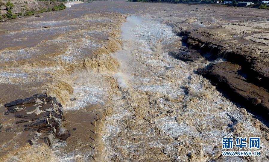 #(环境)(1)黄河壶口出现数百米大瀑布