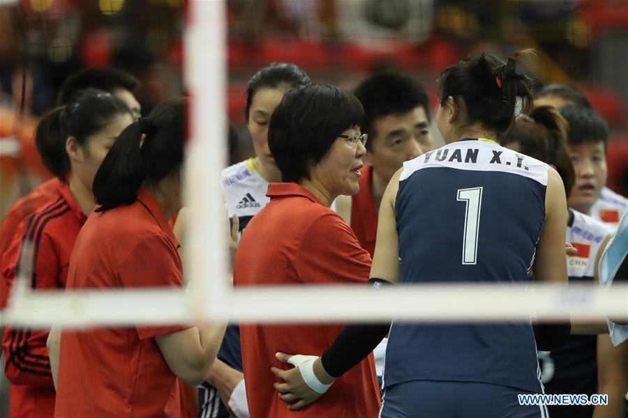 (SP)JAPAN-NAGOYA-VOLLEYBALL-WOMEN'S WORLD CHAMPIONSHIP-CHN VS USA