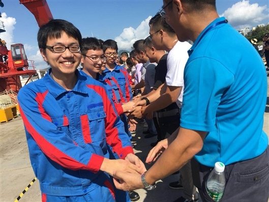 A team of 59 Chinese researchers returned on Tuesday, October 16, 2018, to Sanya in southern Hainan Province from the Mariana Trench after completing a 54-day, 7,292-nautical-mile deep-sea research mission.[Photo: sciencenet.cn]