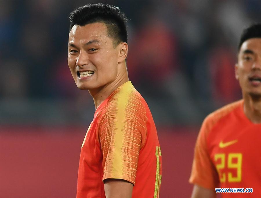 (SP)CHINA-NANJING-FOOTBALL-CFA TEAM CHINA INT'L FOOTBALL MATCH 2018 (CN)
