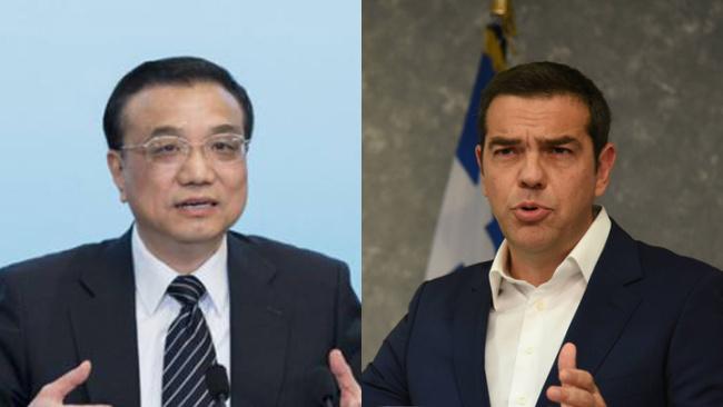 Chinese Premier Li Keqiang(left) and Greek Premier Alexis Tsipras [Photo:China Plus]
