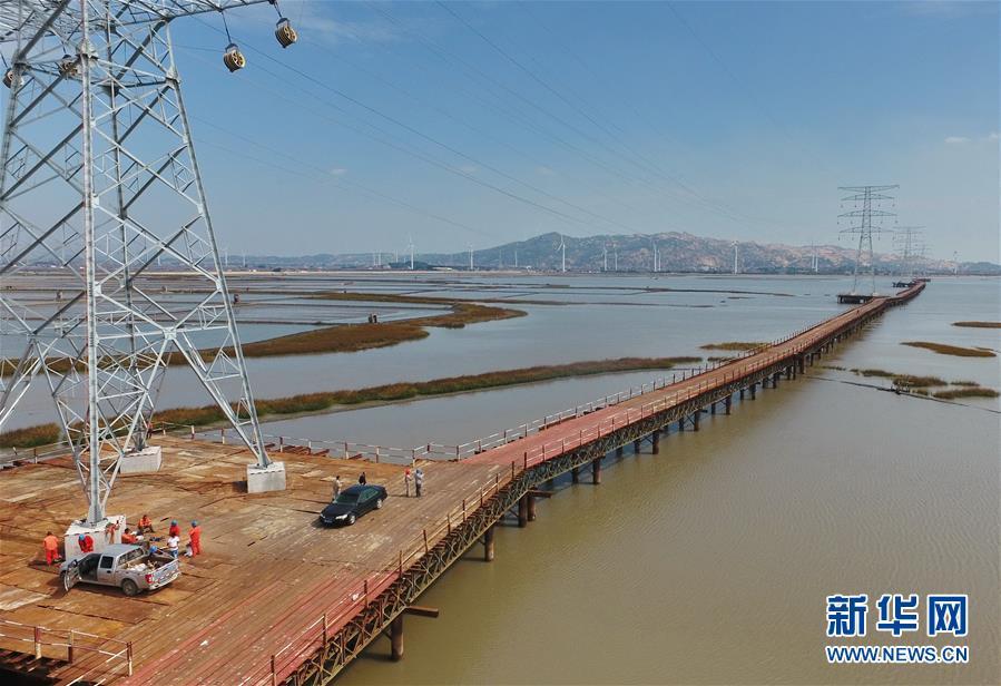 (经济)(1)福建:全路径钢栈桥施工 保护海洋生态环境