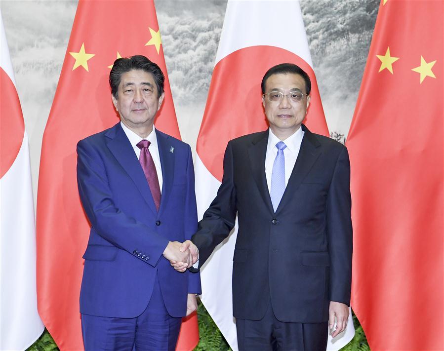CHINA-BEIJING-LI KEQIANG-SHINZO ABE-TALKS (CN)