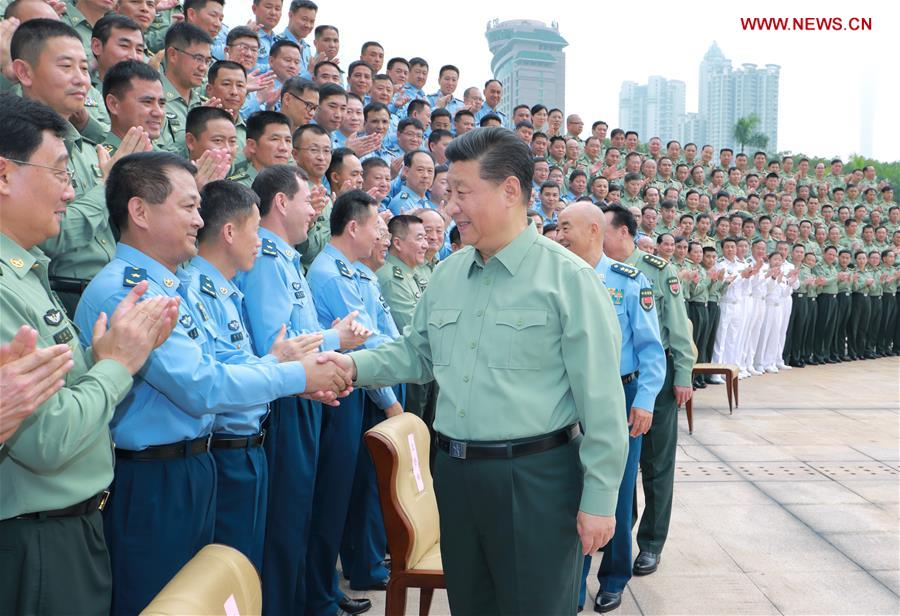 Xi inspects PLA Southern Theater Command, stresses advancing commanding ability