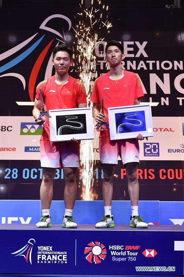 China's Han, Zhou upset world No. 1 to win first ever BWF World Tour title at French Open