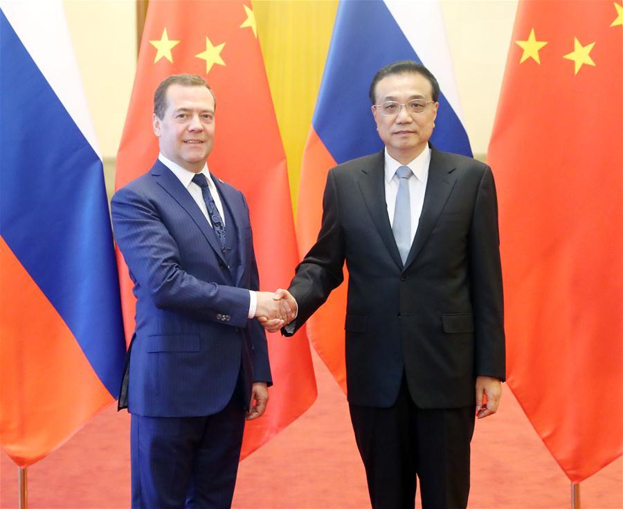 CHINA-BEIJING-LI KEQIANG-RUSSIAN PM-REGULAR MEETING (CN)