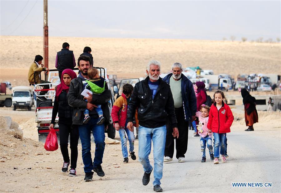 SYRIA-DAMASCUS-REFUGEES-RETURN