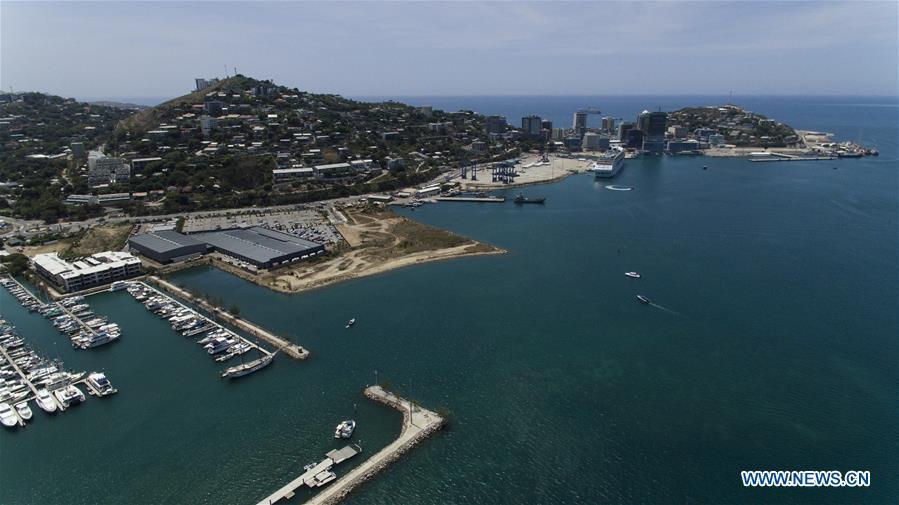 Aerial view of Port Moresby, Papua New Guinea