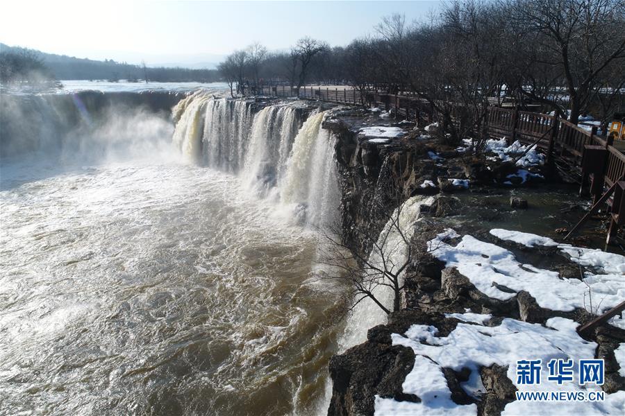 #(环境)(1)黑龙江牡丹江:镜泊湖现冬季大瀑布