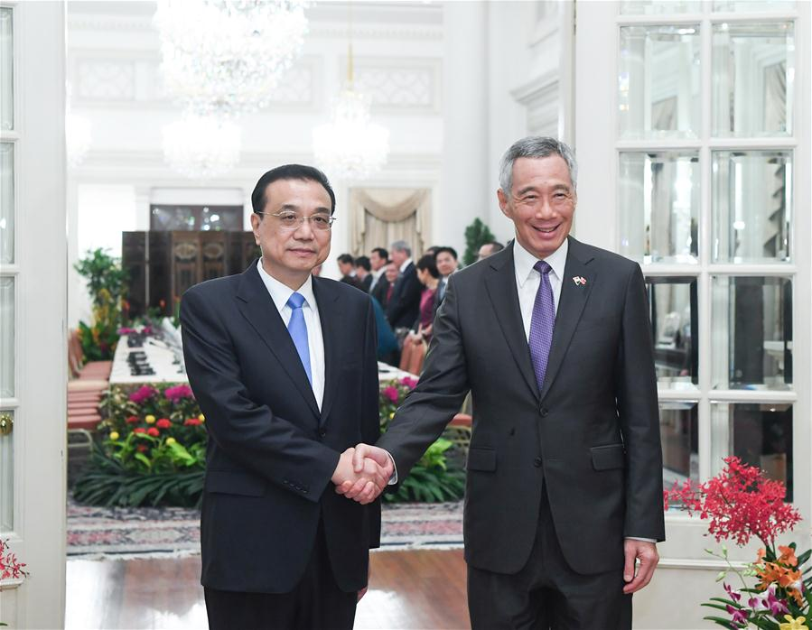 SINGAPORE-CHINA-LI KEQIANG-TALKS