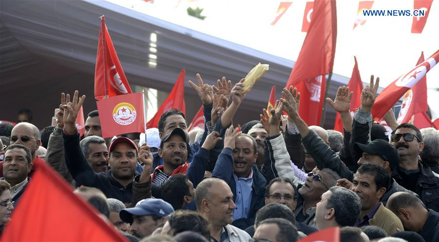 TUNISIA-TUNIS-GENERAL STRIKE-CIVIL SERVICE