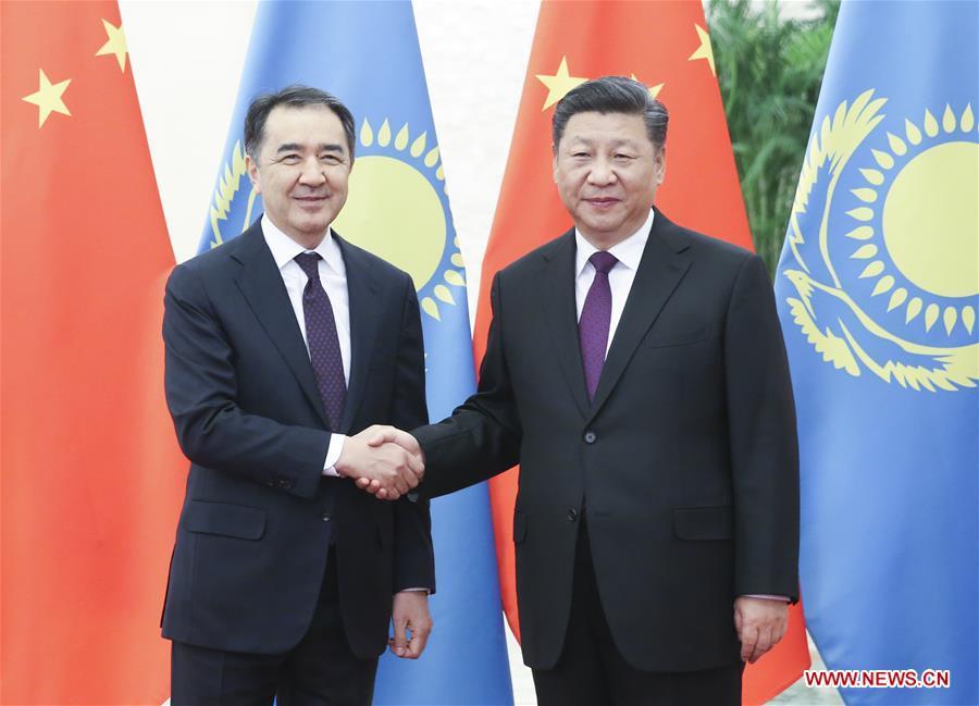CHINA-BEIJING-XI JINPING-KAZAKH PM-MEETING (CN)