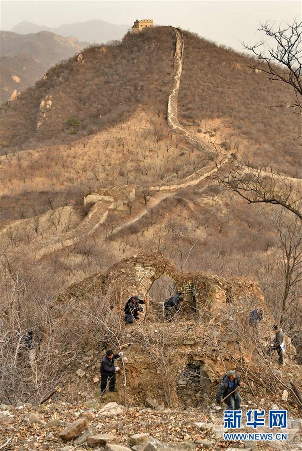 (社会)(4)北京延庆:冬日养护古长城