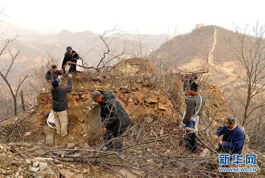 (社会)(2)北京延庆:冬日养护古长城