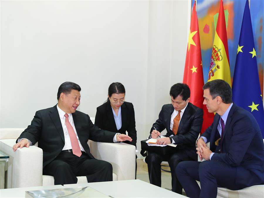 SPAIN-MADRID-XI JINPING-SPANISH PM-MEETING