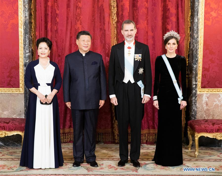 Xi Jinping attends welcoming banquet hosted by Spanish king