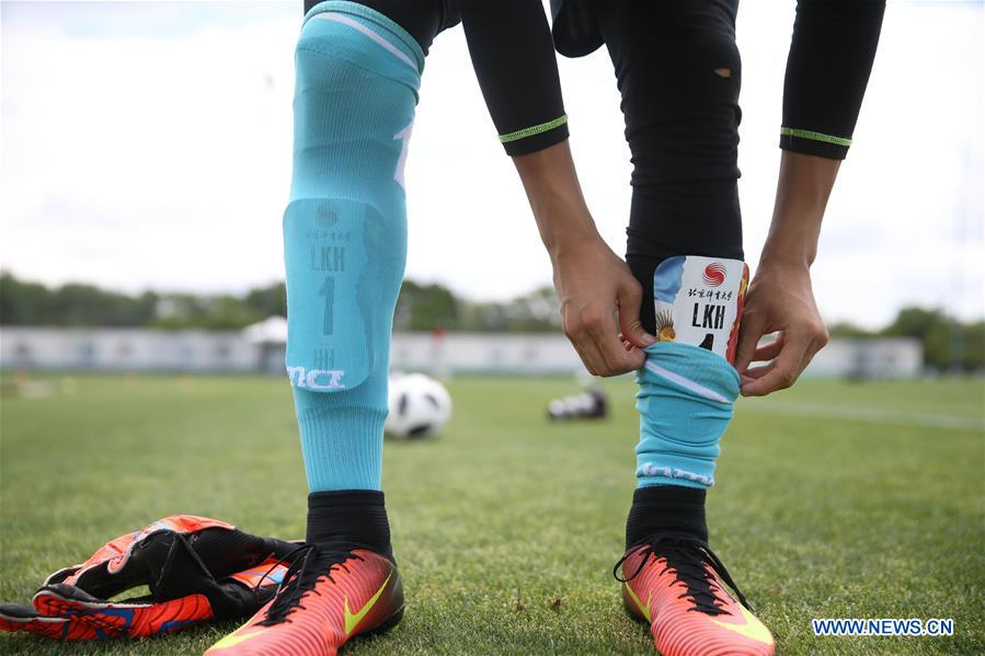 Chinese teenager football players begin 30-day training in Buenos Aires