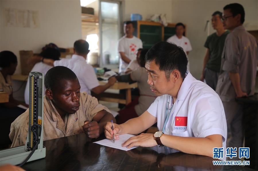 (XHDW)(3)中国援卢旺达医疗队到中国援建项目义诊