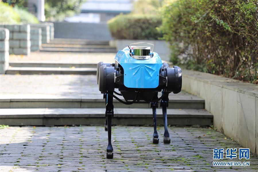 """(图文互动)(1)新一代""""绝影""""四足机器人发布 具备跑步及上下台阶能力"""