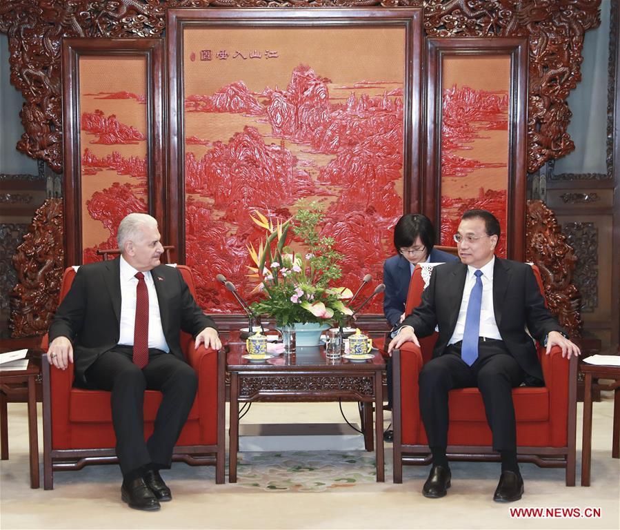 CHINA-BEIJING-LI KEQIANG-TURKEY-PARLIAMENT SPEAKER-MEETING (CN)