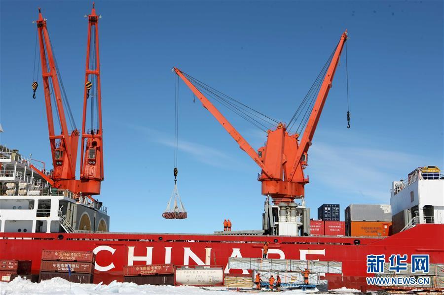 博天堂线上娱乐场中国第35次南极科考完成第一阶段物资卸运