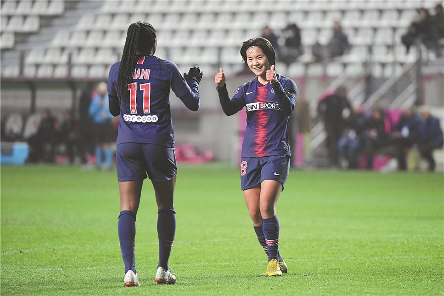 'Lady Messi' keeps impressing in Paris