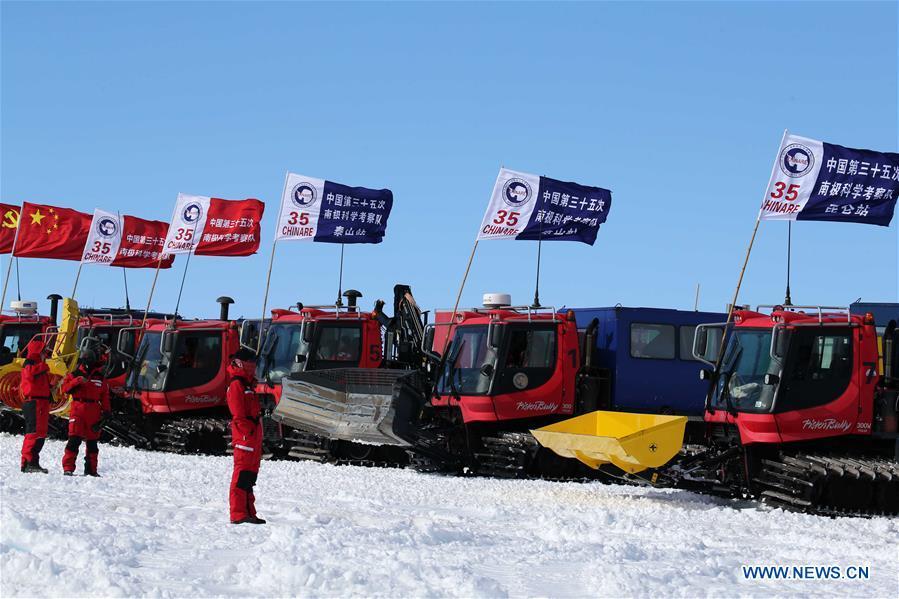 China's Antarctic expedition sends 37 members to Kunlun, Taishan stations