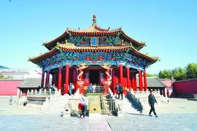 沈阳故宫建筑彩画修复大政殿重现往昔神韵