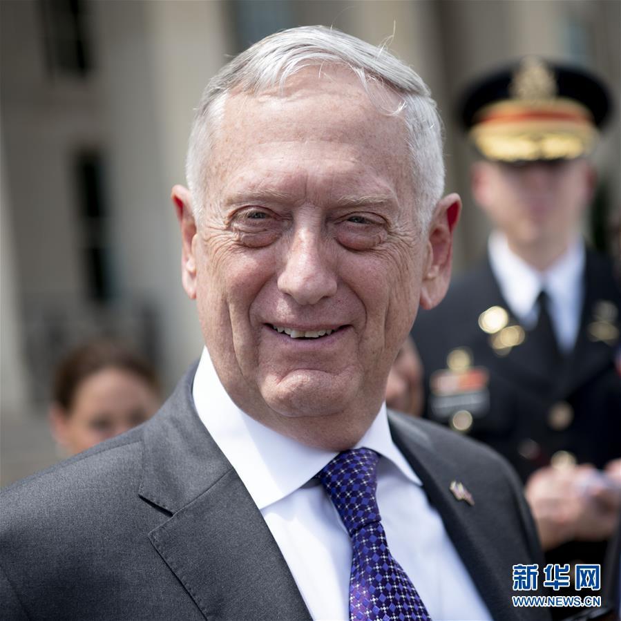 美国防部长马蒂斯将于明年2月底去职