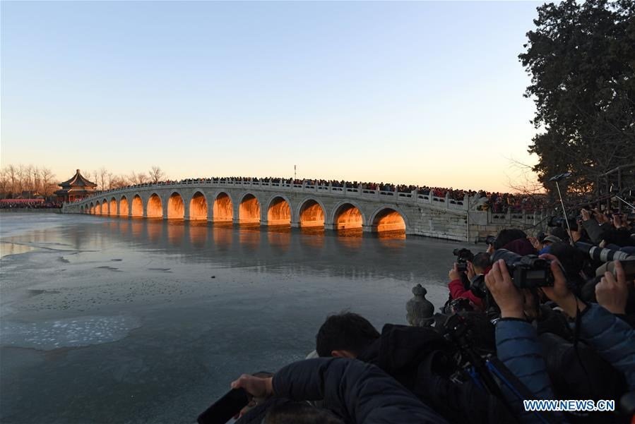 Sunset scenery of Summer Palace in Beijing