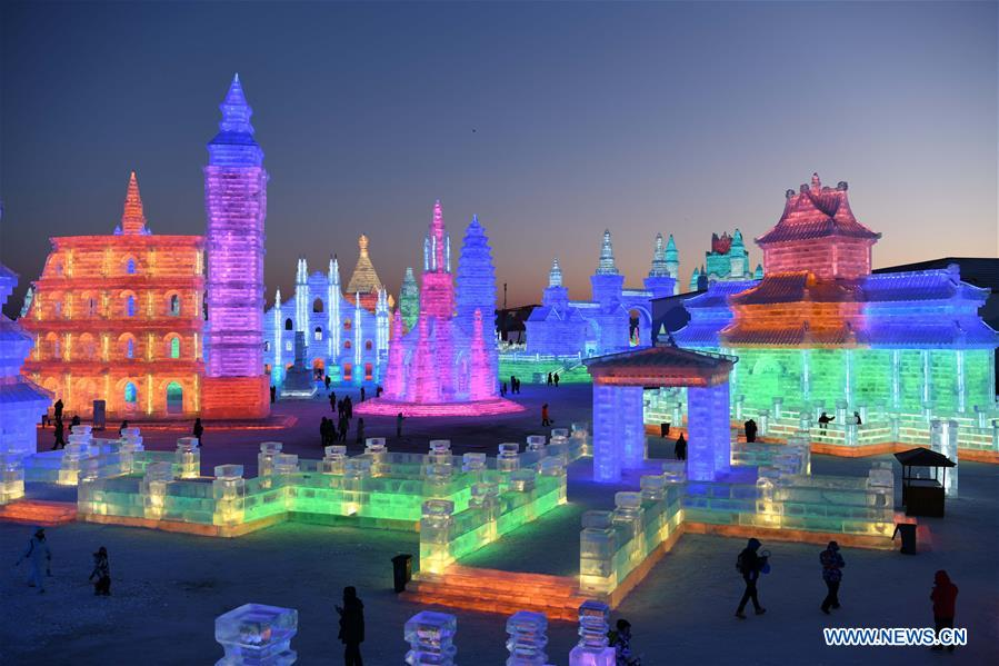 600,000-square-meter Ice-Snow World opens in Harbin