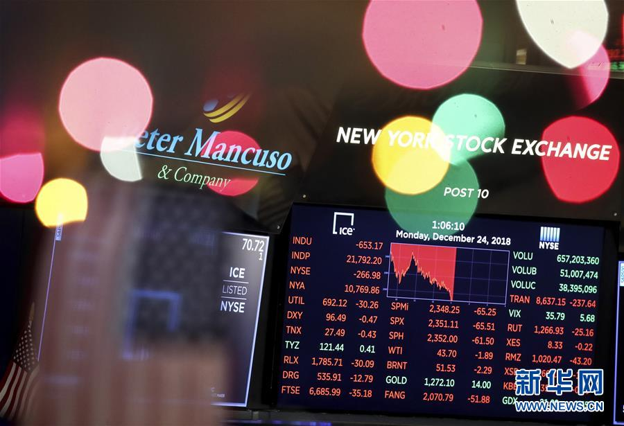 纽约股市三大股指24日下跌