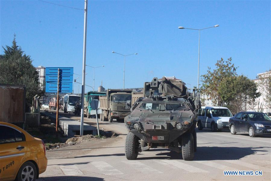 TURKEY-KILIS-MILITARY REINFORCEMENTS-SYRIAN BORDER