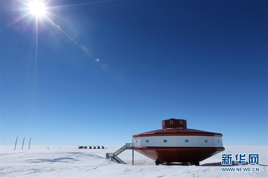 """(""""雪龙""""探南极・图文互动)(1)中国南极科考队内陆队抵达泰山站"""