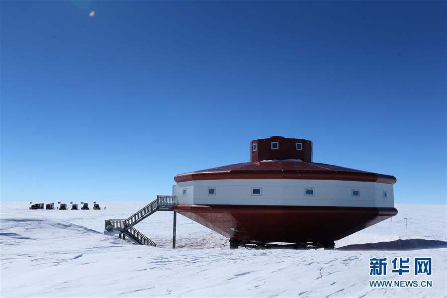 """(""""雪龙""""探南极・图文互动)(6)中国南极科考队内陆队抵达泰山站"""
