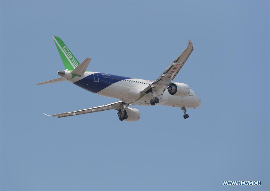 Third C919 jet makes maiden test flight
