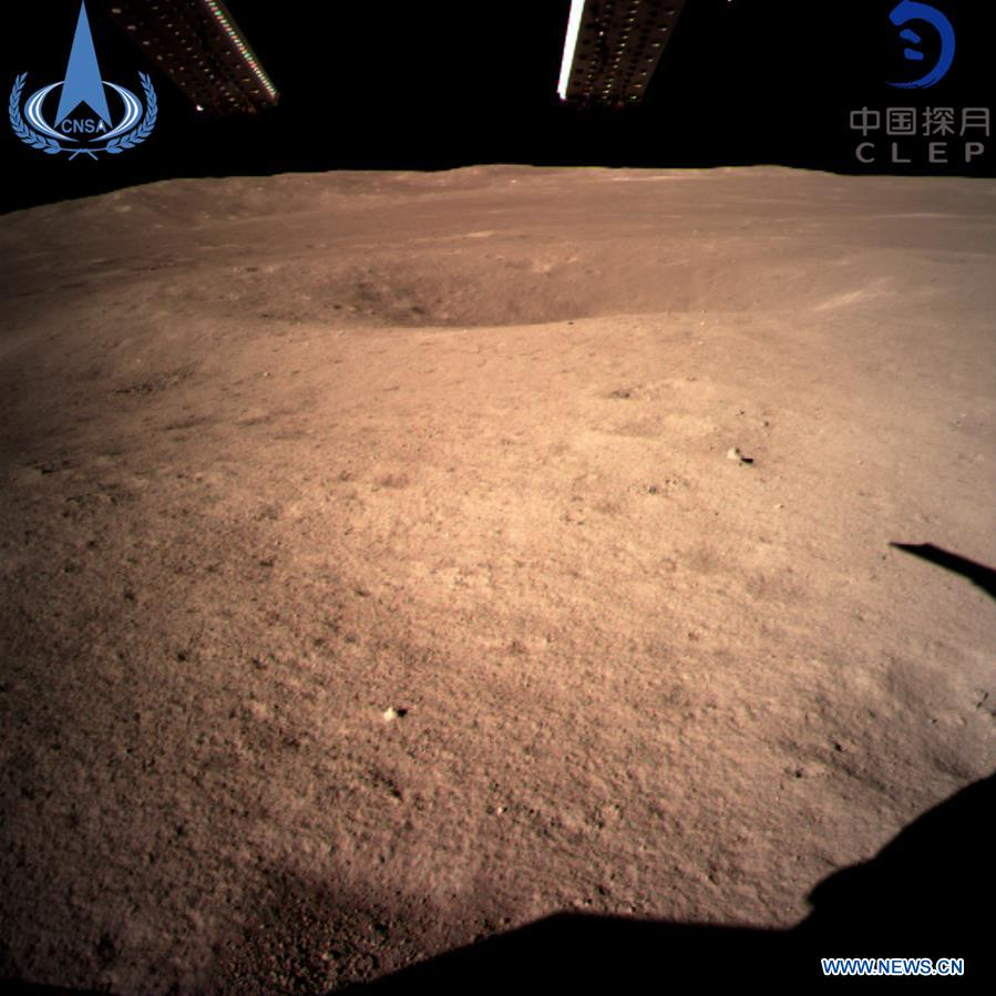 China's Chang'e-4 probe soft-lands on moon's far side