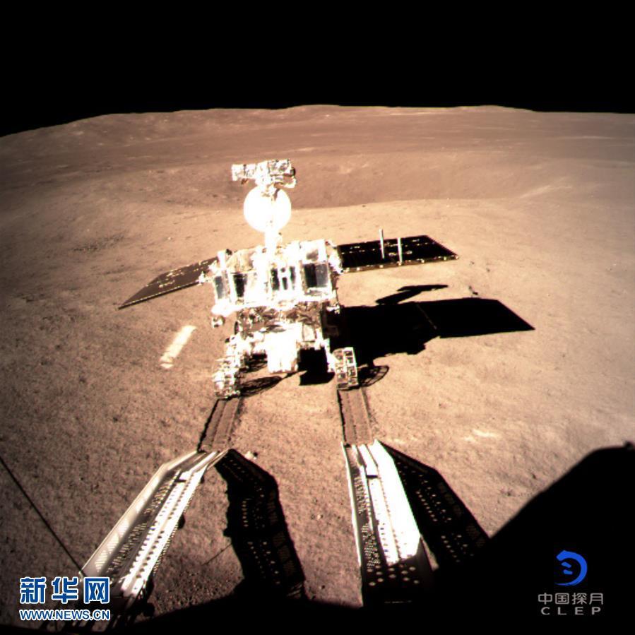 (图文互动)(1)嫦娥四号着陆器与巡视器成功分离 玉兔二号顺利驶抵月背